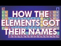 How The Elements Got Their Names | It's Okay To Be Smart | PBS Digital Studios - YouTube