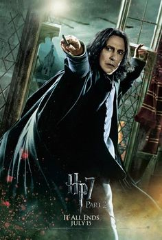 Harry Potter And The Deathly Hallows – Movie Poster / Print (Professor Severus Snape / Alan Rickman – Wand) (Size: x Magia Harry Potter, Harry Potter 6, Mundo Harry Potter, Deathly Hallows Part 2, Harry Potter Deathly Hallows, Harry Potter Poster, Alan Rickman, Daniel Radcliffe, Harry Ron Hermione