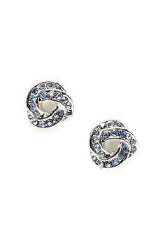 Tiny September Sapphire Infinity Earrings