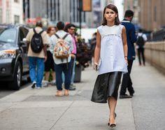 Street Style From Day 5 of NYFW: Miroslava Duma