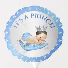 Shop Prince Royal Baby Blue & Silver Pillow Balloon created by nawnibelles. African American Babies, American Baby, Shower Party, Baby Shower Parties, Baby Shower Ballons, Photo Balloons, Baby Shower Table Decorations, Silver Pillows, Balloon Shapes