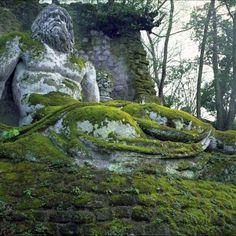Bomarzo garden, Italy.