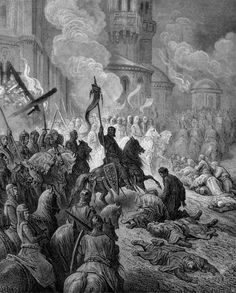 Entry of the Crusaders into Constantinople. llustration to The Crusades.