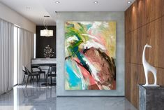 Large Painting on Canvas,Original Painting on Canvas,large art on canvas,xl abstract painting,painting colorful FY0013