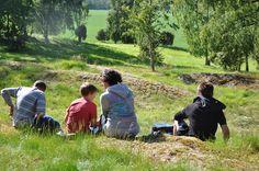 Picnic at Stenhusbacken, Fröslunda outside Lidköping. This is a big burial ground from the bronze age. Read more here: http://vastergotlandsmuseum.se/utstallningar/bronsskoldarna-fran-froslunda-en-arkeologisk-sensation/
