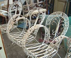 Superb French Ornate Cream Wrought Iron Metal Garden Table And Chairs Bistro  Furniture Set By The Somerset Shop,  Http://www.amazon.co.uk/dp/B007SVVBES/refu2026