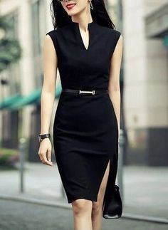 Office Dresses, Office Outfits, Dresses For Work, Work Outfits, Casual Office, Office Attire, Office Wear, Sexy Work Outfit, Blue Dress Outfits