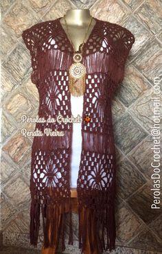 * Pérolas do Crochet: Maxi Colete BOHO