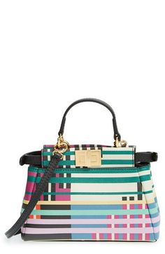 Fendi 'Micro Peekaboo' Printed Leather Bag available at #Nordstrom