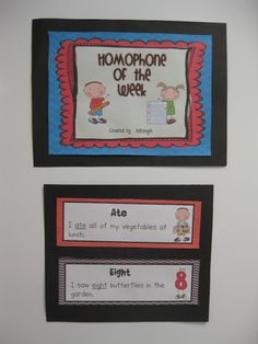 This Homophone of the Week bulletin board is one of the best things to add to your classroom that you never realized you needed!