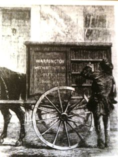 The Perambulating Library of 1859 in Warrington, England, this was so old, I just had to add it...Can you imagine how important books were in the old old days..This wagon would have been a real treat....I can just imagine waiting on it to come.....