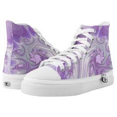 Purple Tree Hi Top Printed Shoes