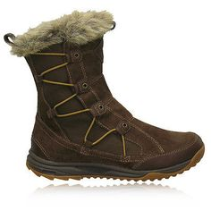Teva Womens Little Cloud Warm Waterproof Brown Trail Hiking Walking Boots Shoes
