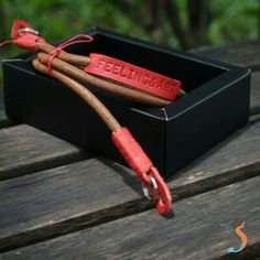 LEAN, personalized round leather cord camera strap by Sanchatthai.