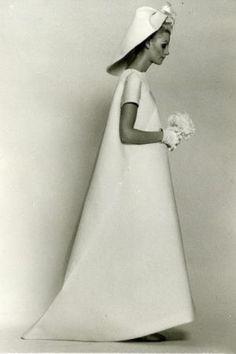 Vintage Balenciaga, volume, silhouette, dress, A-line