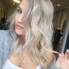 Platinum ash blonde balayage!