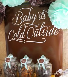 Little Big Company | The Blog: Hot Cocoa Bar Party a Delicious Chocolate and pale blue themed party by Sweet Scarlet Designs #chocolate #hotchocolate #winterparty