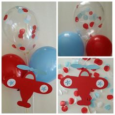 Airplane Balloon Centerpiece by DKDeleKtables on Etsy