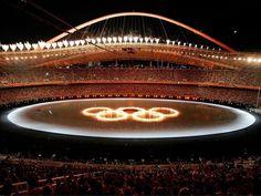 Estádio Olímpico de Atenas para os Jogos de 2004