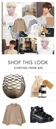 """""""found my heart // 2k q+a answers"""" by taeangel ❤ liked on Polyvore featuring Whiteley, Chanel, MANGO, kpop, bts, bangtan, KimTaehyung and tae"""
