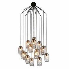 "Hive Constellation Chandelier - Style # LCN-BL-xx, Modern Suspension Lamps - Modern Chandeliers - Modern Pendant Lighting | SwitchModern.com $1295 27.5"" W, 27.5"" D, 51"" H"