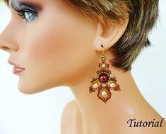 PORPHYR beaded earrings beading tutorial beadweaving pattern