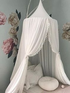 Baby Mosquito Net With Ball Tassel Anti Insect Kid Room Princess Bed Canopy Kids Room Bedding Round Bed Mosquito Net Matching In Colour Crib Netting Baby Bedding