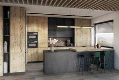 Bielsko-Biała, dom – 230m2: styl , w kategorii Kuchnia zaprojektowany przez razoo-architekci