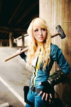 Fallout 3 Cosplay Vault girl #apocalyptic #apocalypse #vaultboy