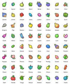 Pokemon Berries For the Gatorade drink names Pokemon Guide, Oc Pokemon, Pokemon Pins, Pokemon Games, Pokemon Birthday, Pokemon Party, Berry, Pokemon Pictures, Digimon