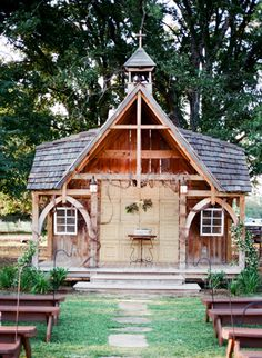 what a sweet ceremony chapel!