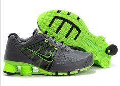 cheapshoeshub com Cheap Nike free run shoes outlet, discount nike free shoes  Womens Charcoal and Lime Green Nike Shox Turbo 2... love!