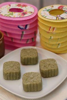 green tea snow skin mooncake