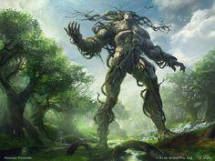 """Forest God"" by Mateusz Ozminski (artozi) | #Fantasy #Elemental #Giants"