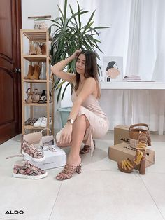 Standout platform sandals with sky-high block heels. Ankle straps offer the possibility to adjust for comfort.