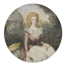 A miniature of Marie Antoinette by an unknown artist, early 20th century; after a portrait attributed to Jean-Baptiste André Gautier-Dagoty