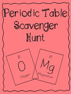 Periodic table scavenger hunt periodic table middle and activities periodic table scavenger hunt urtaz Gallery