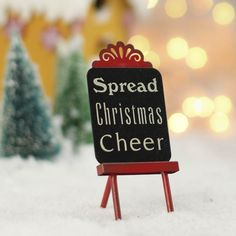 "Miniature ""Christmas Cheer"" Easel"