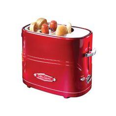 Nostalgia Electrics HDT-600RETRORED Retro Series Pop-Up Hot Dog Toaster