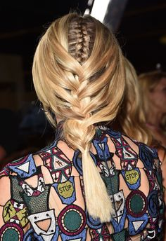 braids in braids, for blonde or brown hair, try it!