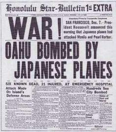 Honolulu Star-Bulletin 1st Extra PEARL HARBOR ATTACK NEWSPAPER HEADLINE! reprint