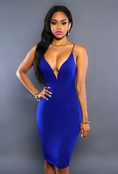 73b14990a92f Backless Sleeveless Deep-V Bodycon Dress Sexiest Dress