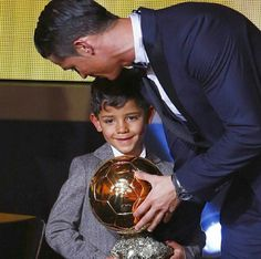 Ballon D'or ♥ best in 2014 ♥ #cristiano #ronaldo and his son