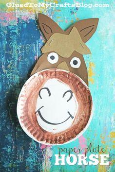Paper Plate Horse - Kid Craft Idea