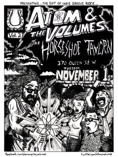 VOL.2 at The Horseshoe Tavern in Toronto w/ Atom and The Volumes. Show poster created by Jamie Goodman.