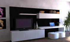 Modular Lcd Rack Panel Tv Moderno Living Progetto Mobili - $ 7.273,00