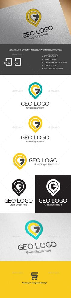 Geo Logo Template — Vector EPS #world #location • Available here → https://graphicriver.net/item/geo-logo-template/11323230?ref=pxcr