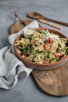 Caesar-Pasta-Salat ⋆ Knusperstübchen