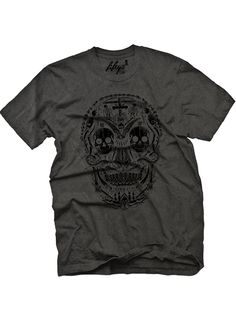 "Men's ""Skull Creation"" Tee by Fifty5 Clothing (Black Pigment) #InkedShop #tee #skulls #menswear #mens #clothing"