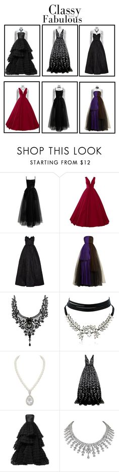 """""""classy and fabulous gowns"""" by maddy0428 on Polyvore featuring Elie Saab, Andrew Gn, Delpozo, WithChic, Jovani and Isabel Sanchis"""